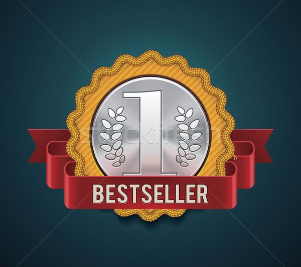 Vetor bestseller distintivo detalhado ícone tecido Foto stock © tele52