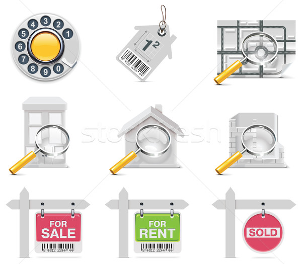 Vector real estate icons. Part 3 Stock photo © tele52