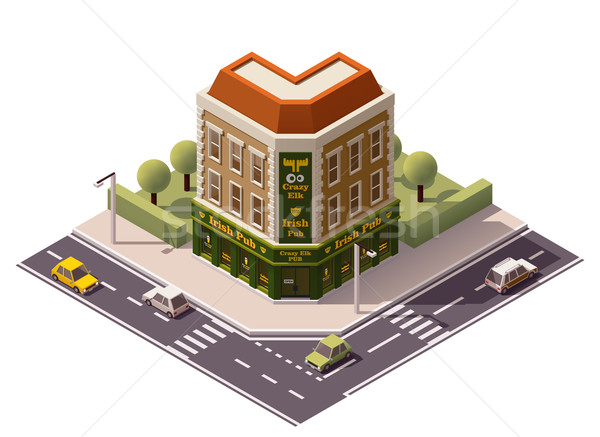 Vector isometric pub Stock photo © tele52