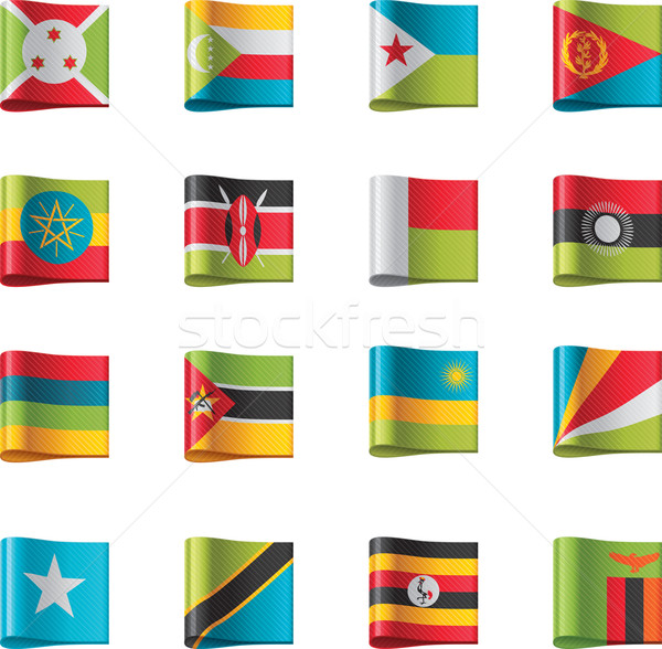 Vector flags. Africa, part 9 Stock photo © tele52