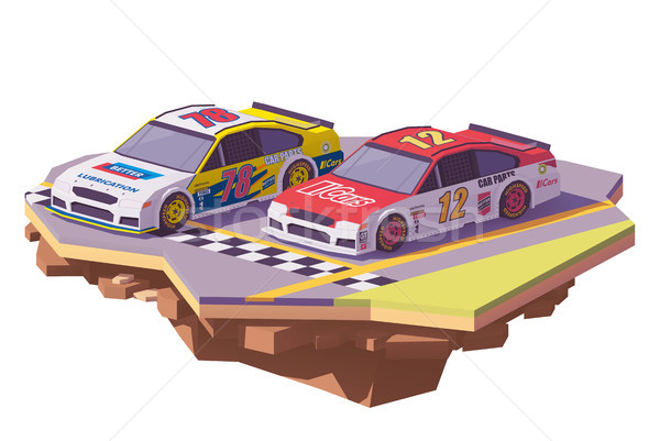 Vector low poly racing cars Stock photo © tele52