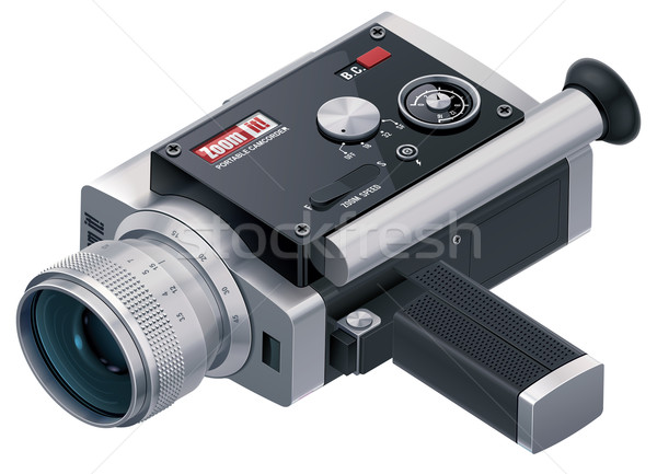 Vector retro camcorder icon Stock photo © tele52