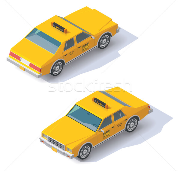 Vector isometric taxi cab Stock photo © tele52