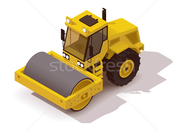 Vector isometric vibration roller Stock photo © tele52