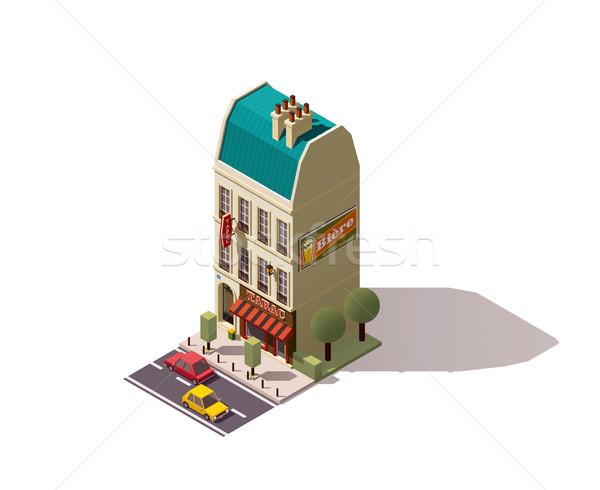 Vector isometric Paris building Stock photo © tele52