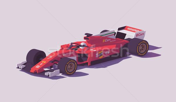 Vecteur faible formule course voiture rouge Photo stock © tele52