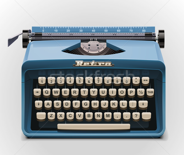 Vector typewriter XXL icon Stock photo © tele52