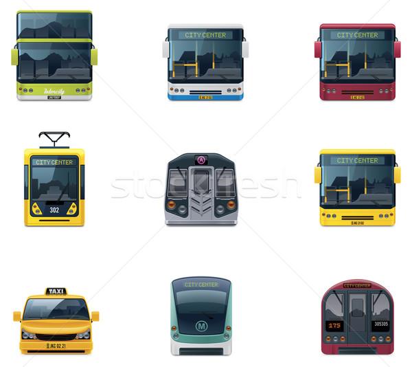 ベクトル 公共交通機関 詳しい アイコン 都市 ストックフォト © tele52