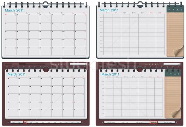 Stock fotó: Vektor · naptár · sablon · részletes · konzerv · használt