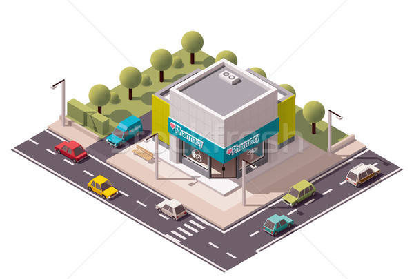 Vector isometric drugstore Stock photo © tele52