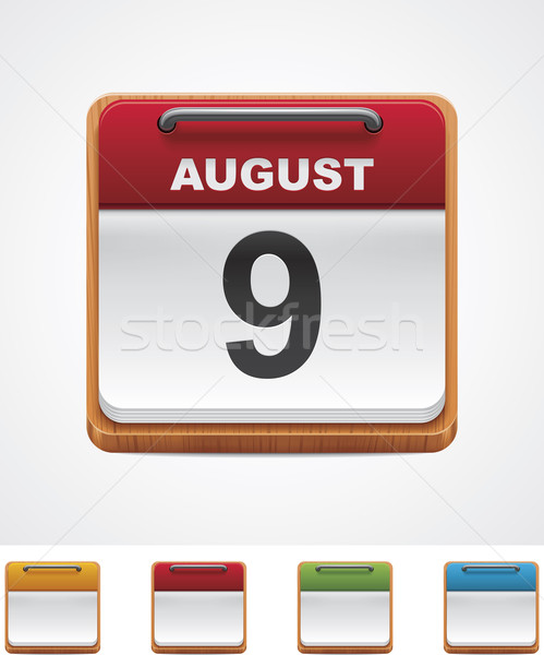 Vector calendar icon Stock photo © tele52