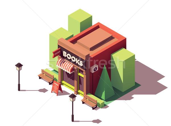 ベクトル アイソメトリック 書店 家 建物 市 ストックフォト © tele52