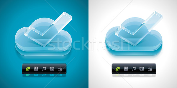 Vector cloud computing XXL icon	 Stock photo © tele52