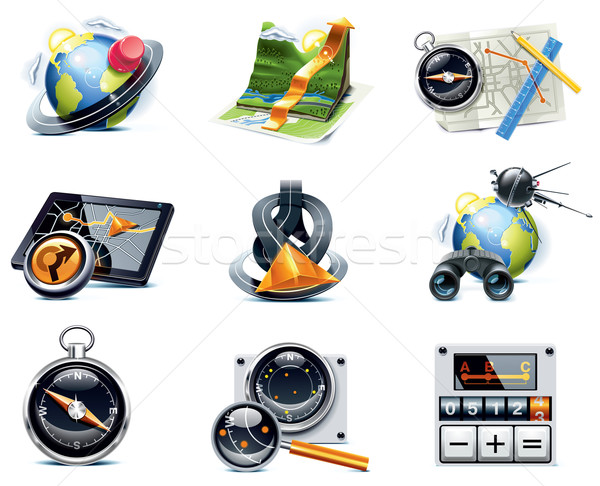 Vector GPS navigation icons. Part 1 Stock photo © tele52