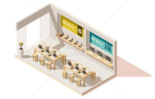 Vetor isométrica compras armazenar edifício Foto stock © tele52