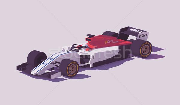 Vecteur faible formule course voiture blanche Photo stock © tele52