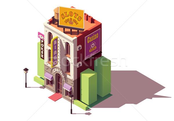 Vecteur isométrique casino bâtiment jeux maison Photo stock © tele52