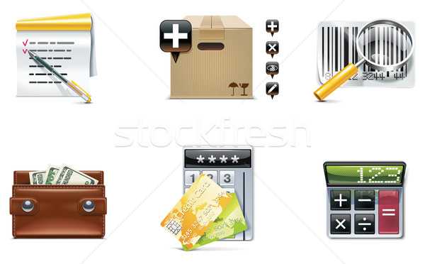 Stock photo: Vector shopping icon set and elements. Part 4