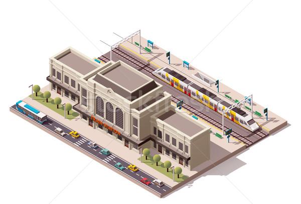 ベクトル アイソメトリック アイコン 建物 市 ストックフォト © tele52