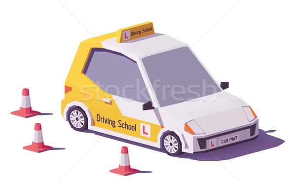 Vektor alacsony vezetés iskola autó forgalom Stock fotó © tele52