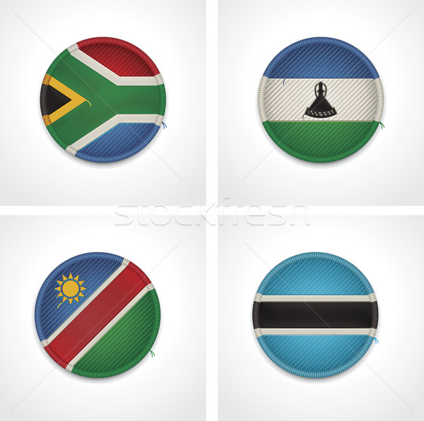 Flags of countries as fabric badges Stock photo © tele52