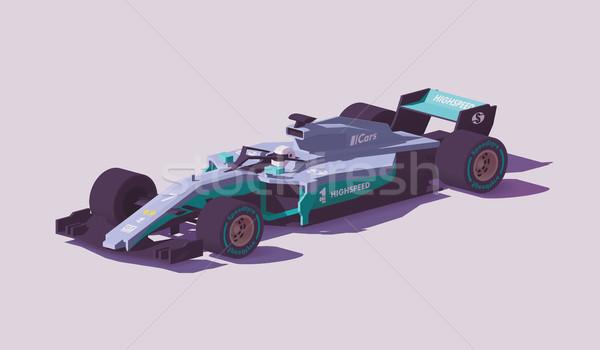 Vecteur faible formule course voiture gris Photo stock © tele52