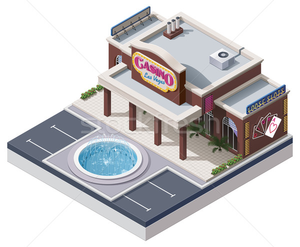 Vector isometric casino building Stock photo © tele52