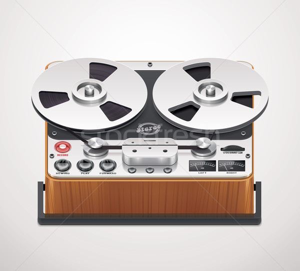 Vector reel-to-reel recorder icon Stock photo © tele52