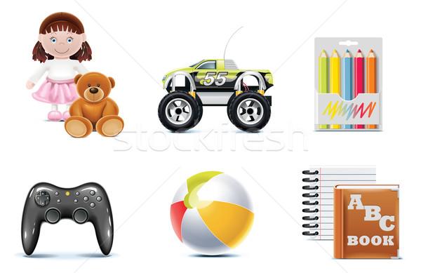 Vector baby icons. Part 1 Stock photo © tele52