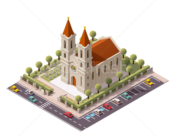 Vector isometric church Stock photo © tele52