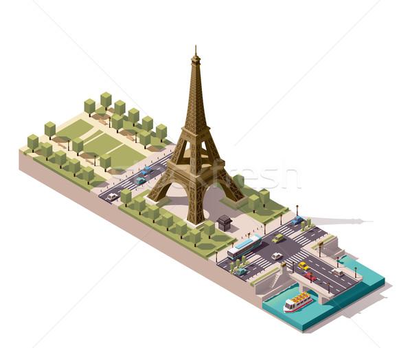 Vector isometric map of the Champ de Mars in Paris Stock photo © tele52