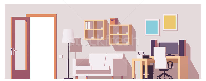 Vector home office interior Stock photo © tele52