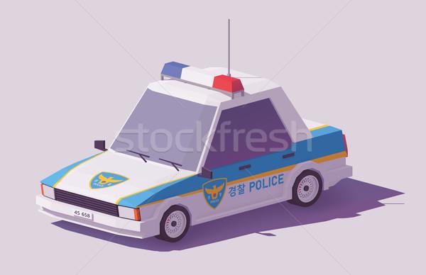 Vector laag turks politie auto klassiek Stockfoto © tele52