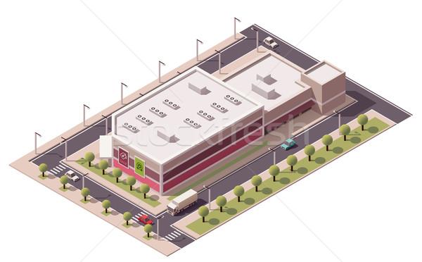 Vektor izometrikus pláza épület ikon üzlet Stock fotó © tele52