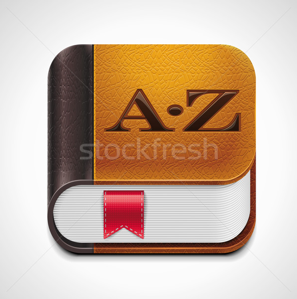 Vector book with bookmark XXL icon	 Stock photo © tele52