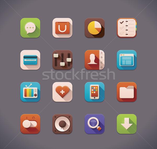 Wektora ui placu aplikacje Zdjęcia stock © tele52