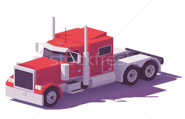 Vector low poly american classic truck Stock photo © tele52