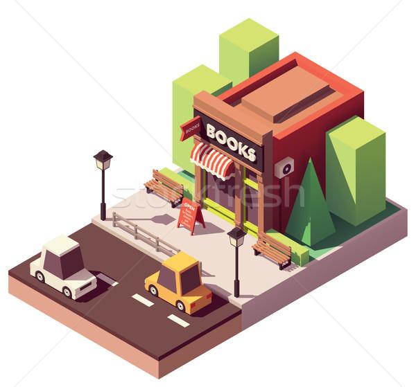 Vector librería casa edificio ciudad Foto stock © tele52