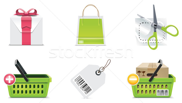 Vector shopping icon set and elements. Part 3 Stock photo © tele52
