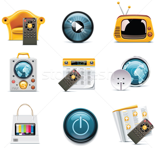 Vector television icons Stock photo © tele52
