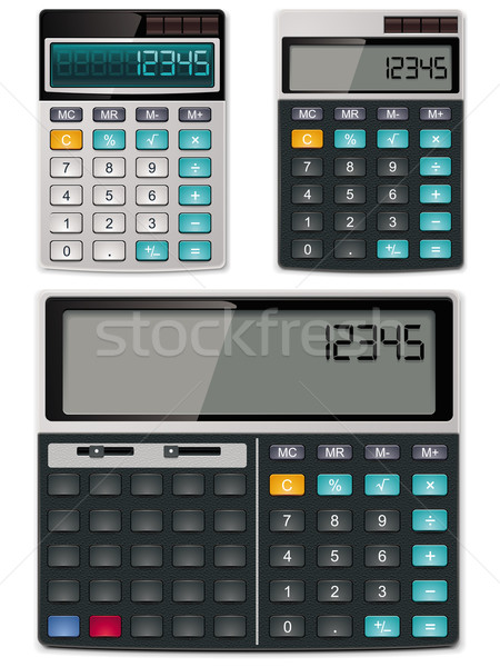 Vector calculators - simple and scientific	 Stock photo © tele52