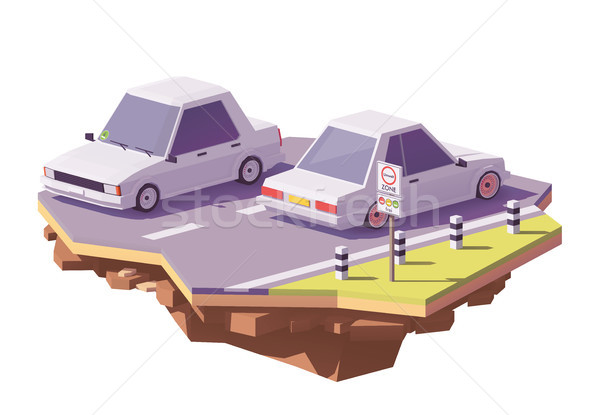 Vector low poly low-emission zone illustration Stock photo © tele52