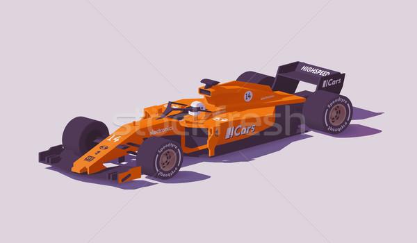 Vecteur faible formule course voiture orange Photo stock © tele52