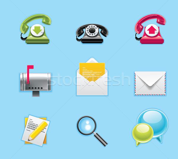 Typisch mobiele telefoon apps diensten iconen telefoon Stockfoto © tele52