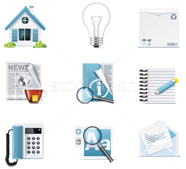 Vector universal website icons Stock photo © tele52