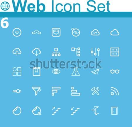Universal glyphs 8. Web icons Stock photo © tele52