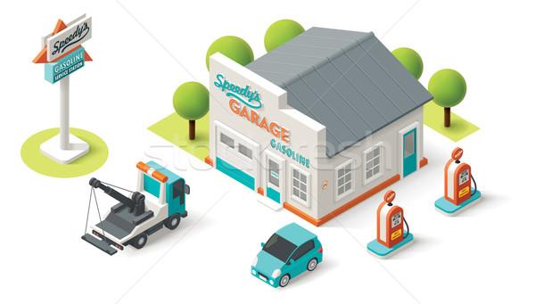 Vector Car Service Stock photo © tele52