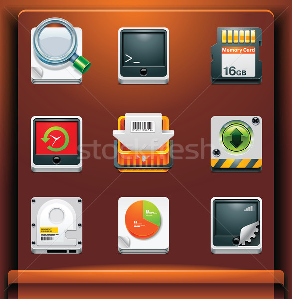 System tools icons Stock photo © tele52
