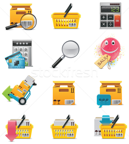 Vector e-commerce icon set Stock photo © tele52