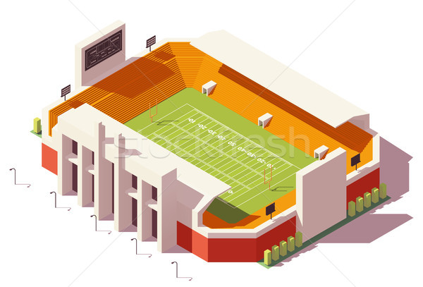 Vector isometric low poly football stadium Stock photo © tele52